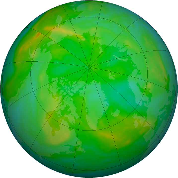 Arctic ozone map for 03 July 2008