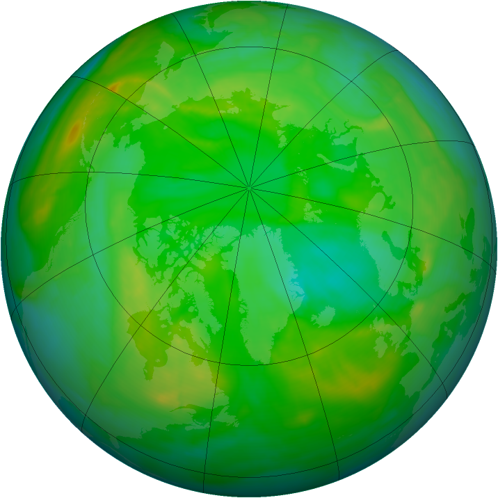 Arctic ozone map for 04 July 2008