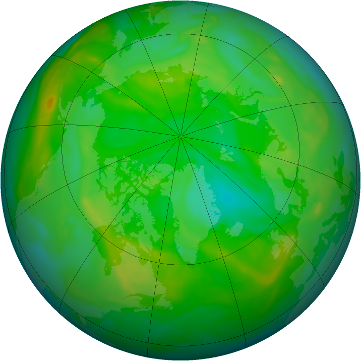 Arctic ozone map for 05 July 2008