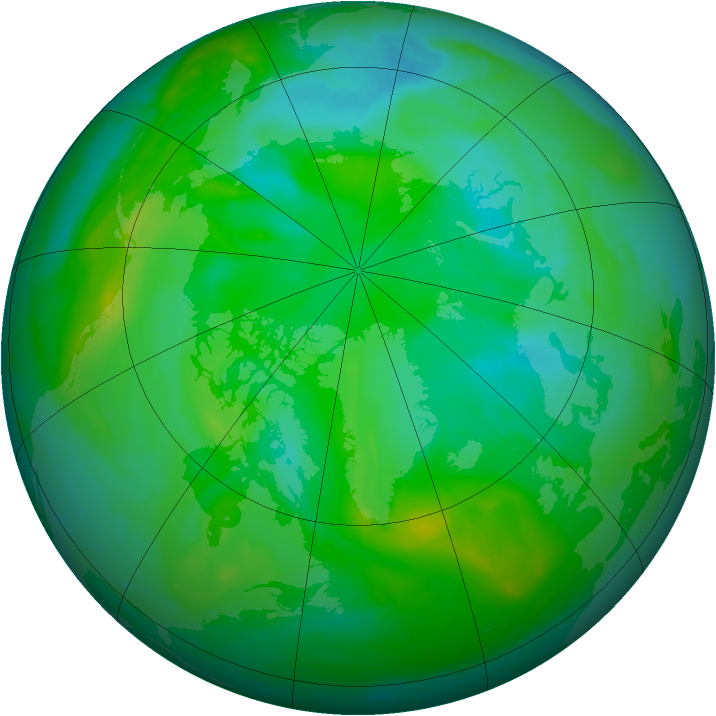 Arctic ozone map for 27 July 2008