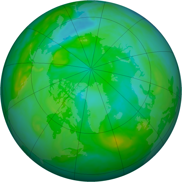 Arctic ozone map for 29 July 2008