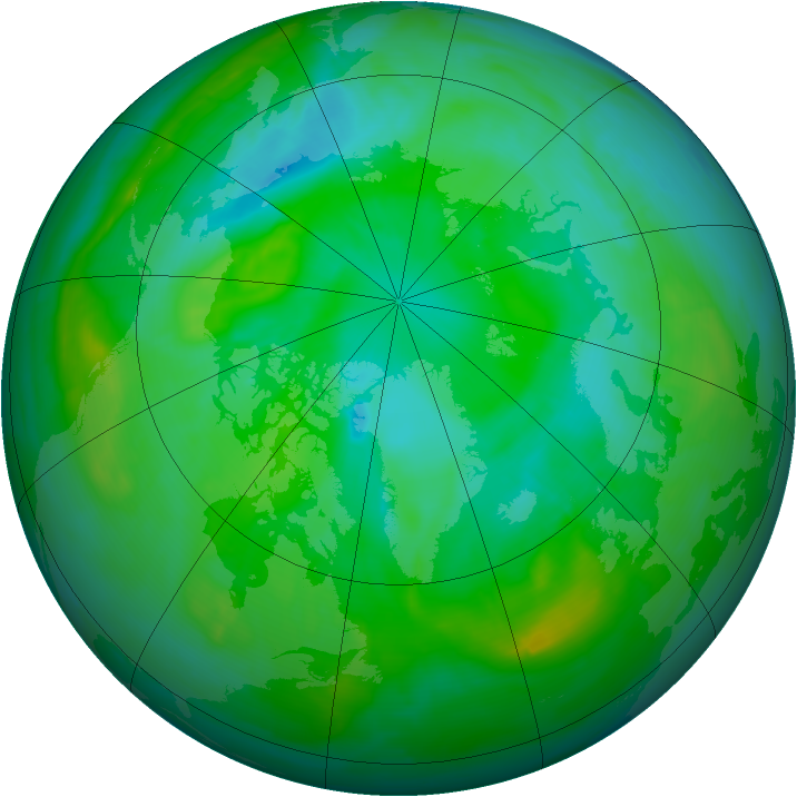 Arctic ozone map for 30 July 2008