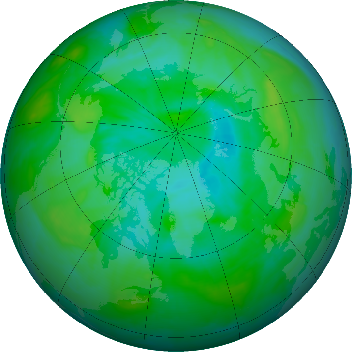 Arctic ozone map for 04 August 2008