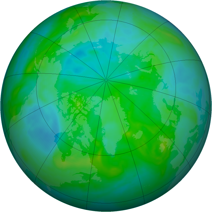 Arctic ozone map for 18 August 2008