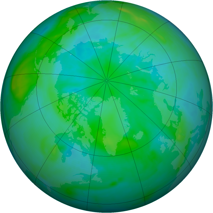 Arctic ozone map for 23 August 2008
