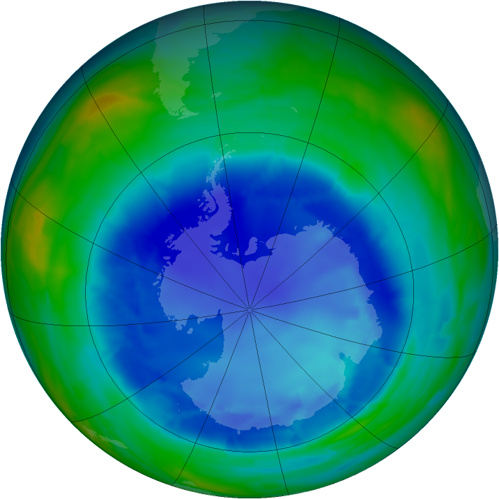 Antarctic ozone map for 26 August 2008