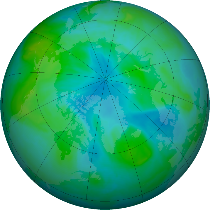 Arctic ozone map for 30 August 2008