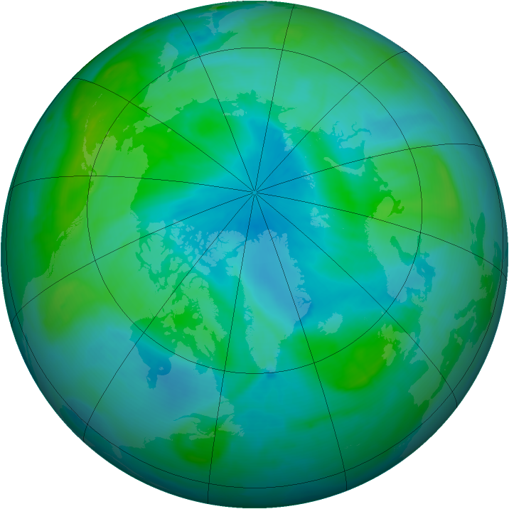 Arctic ozone map for 01 September 2008