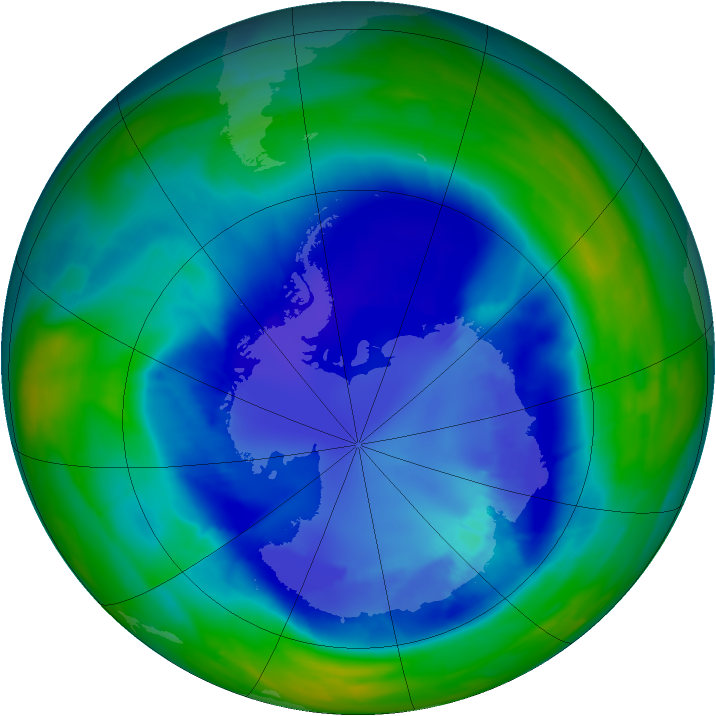 Antarctic ozone map for 01 September 2008