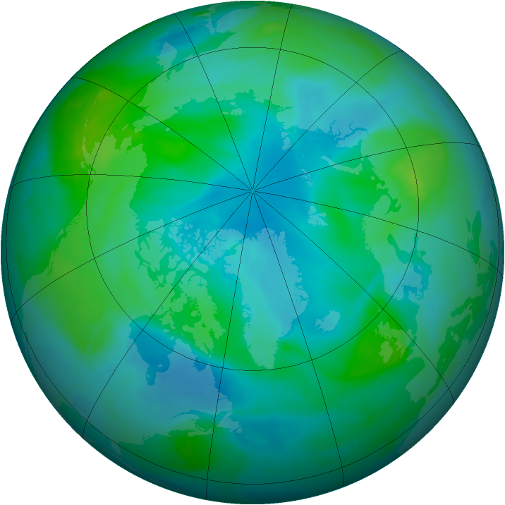 Arctic ozone map for 02 September 2008