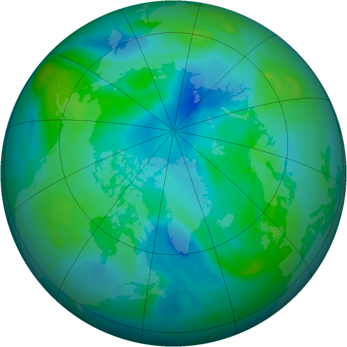 Arctic ozone map for 04 September 2008
