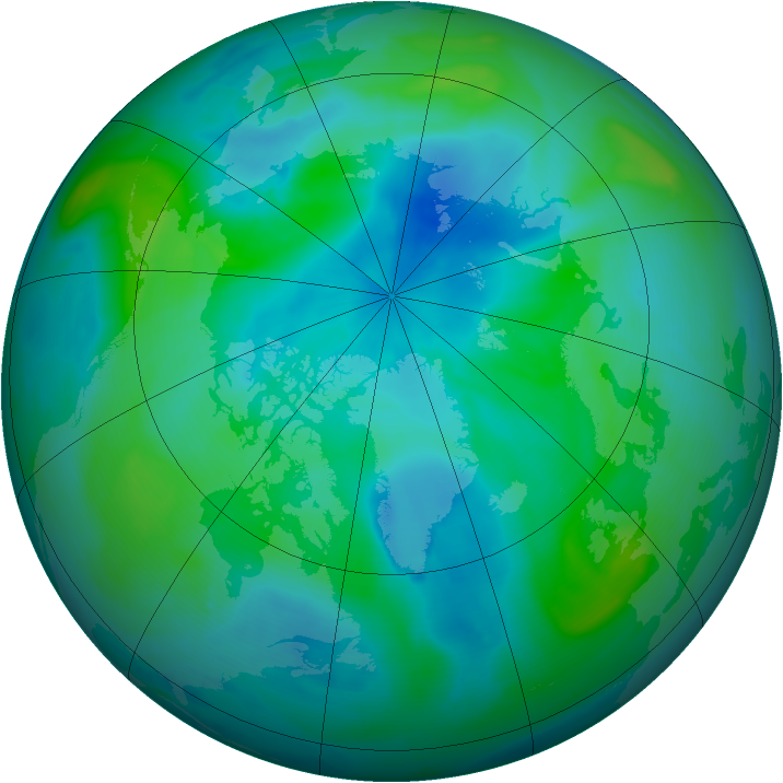 Arctic ozone map for 05 September 2008