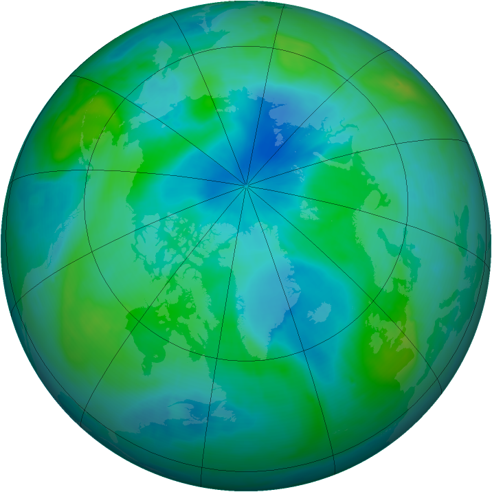 Arctic ozone map for 06 September 2008