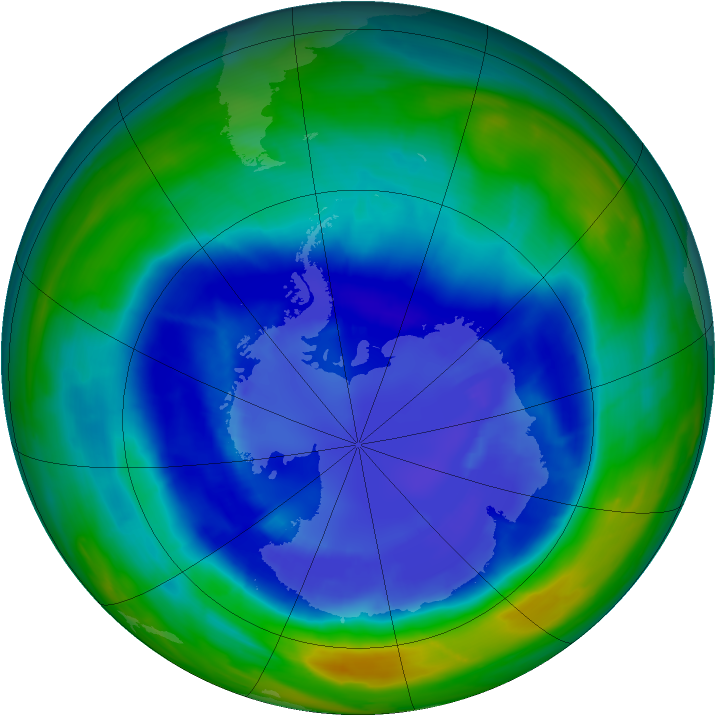 Antarctic ozone map for 06 September 2008