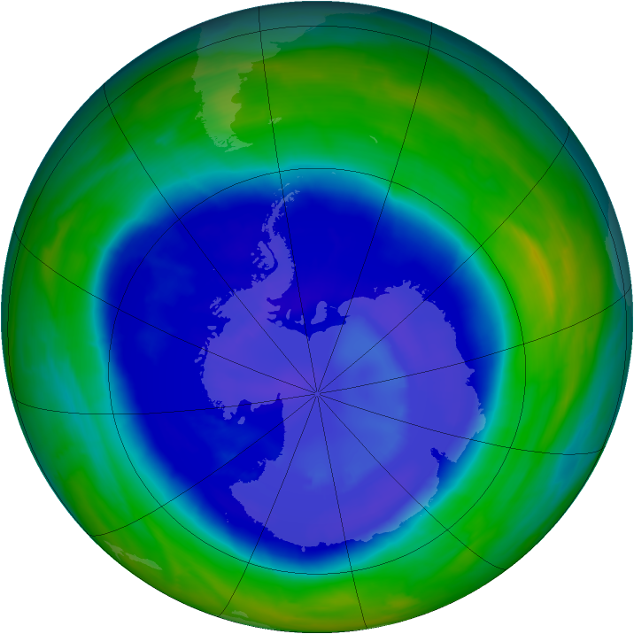 Antarctic ozone map for 10 September 2008