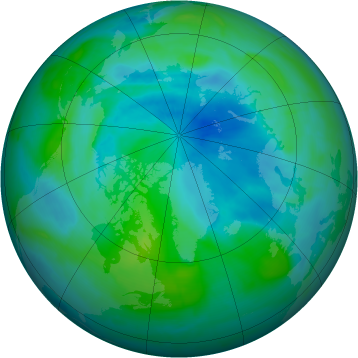 Arctic ozone map for 11 September 2008