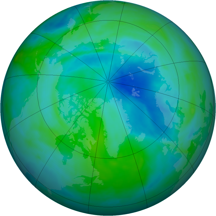 Arctic ozone map for 13 September 2008