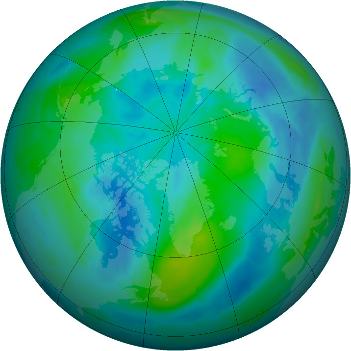 Arctic ozone map for 24 September 2008