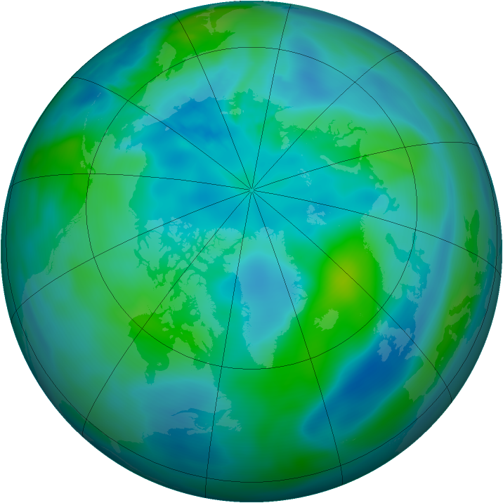 Arctic ozone map for 27 September 2008