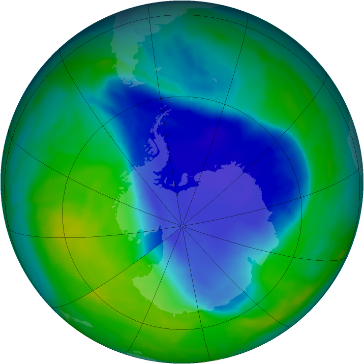 Antarctic ozone map for 27 November 2008