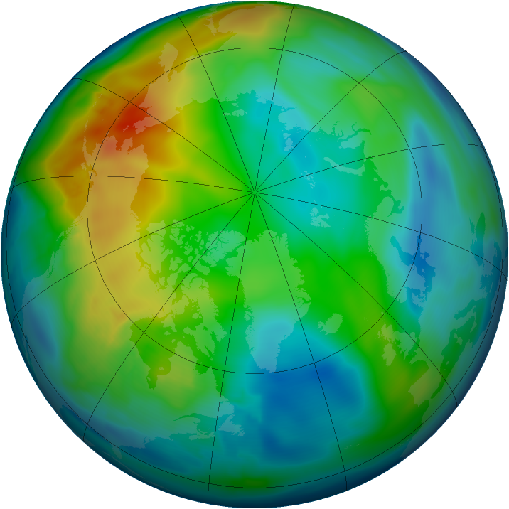 Arctic ozone map for 29 November 2008