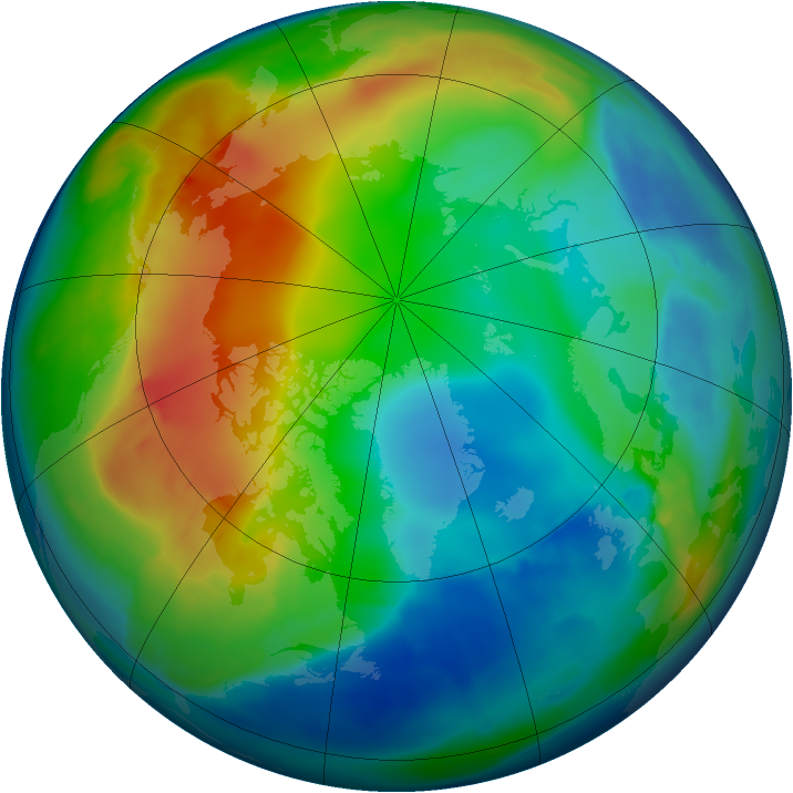 Arctic ozone map for 02 December 2008