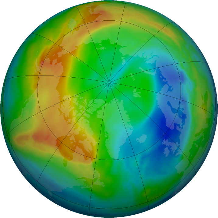 Arctic ozone map for 26 December 2008