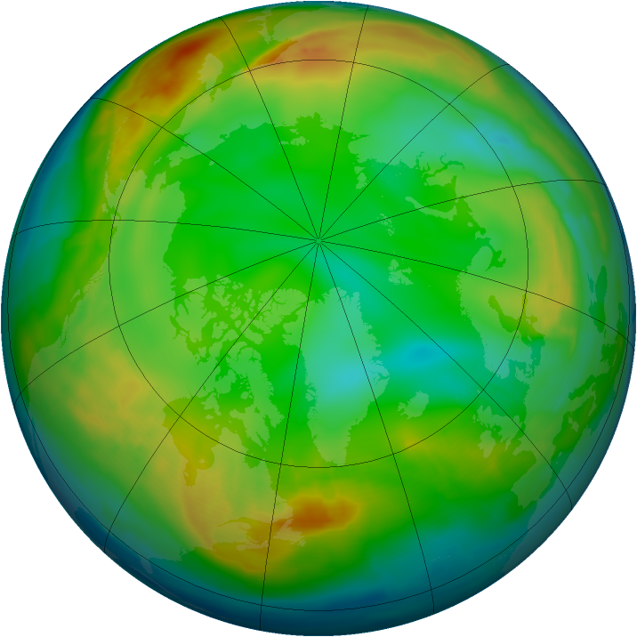 Arctic ozone map for 03 January 2009