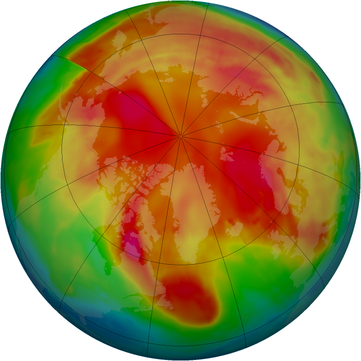 Arctic ozone map for 11 February 2009
