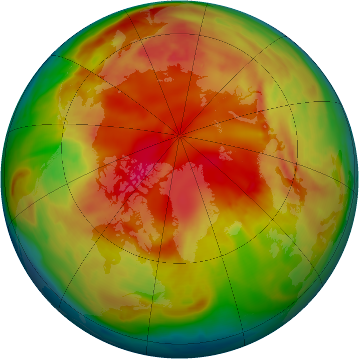 Arctic ozone map for 16 February 2009