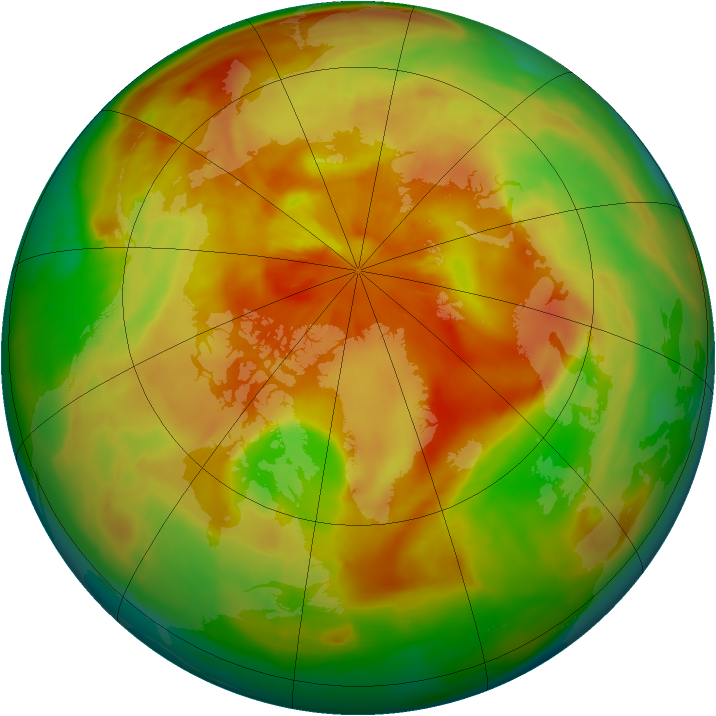 Arctic ozone map for 31 March 2009