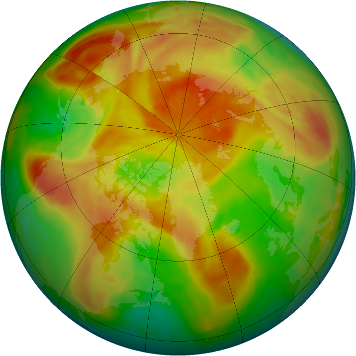 Arctic ozone map for 22 April 2009