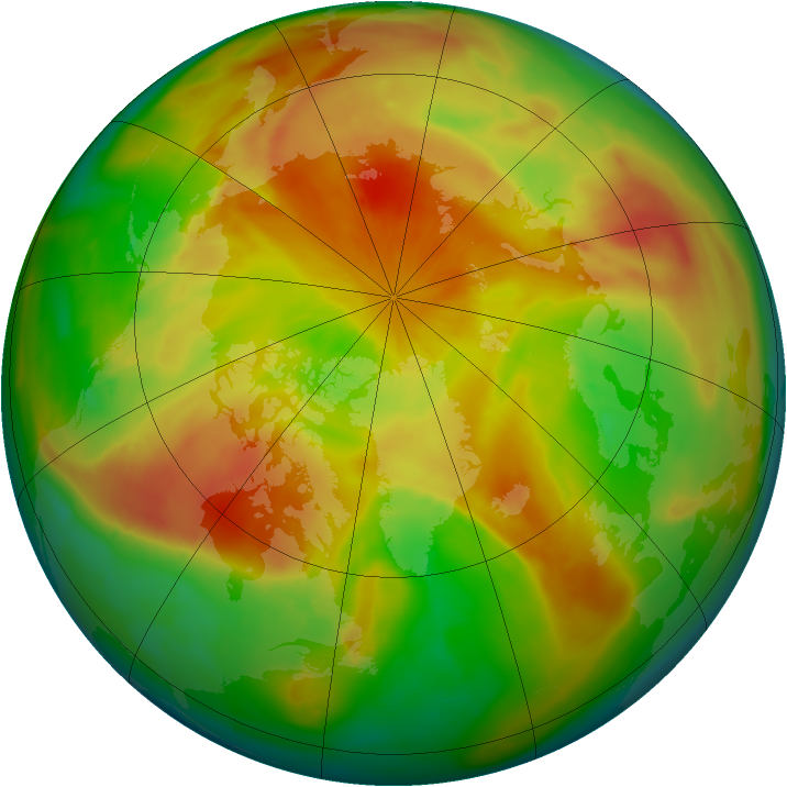 Arctic ozone map for 24 April 2009