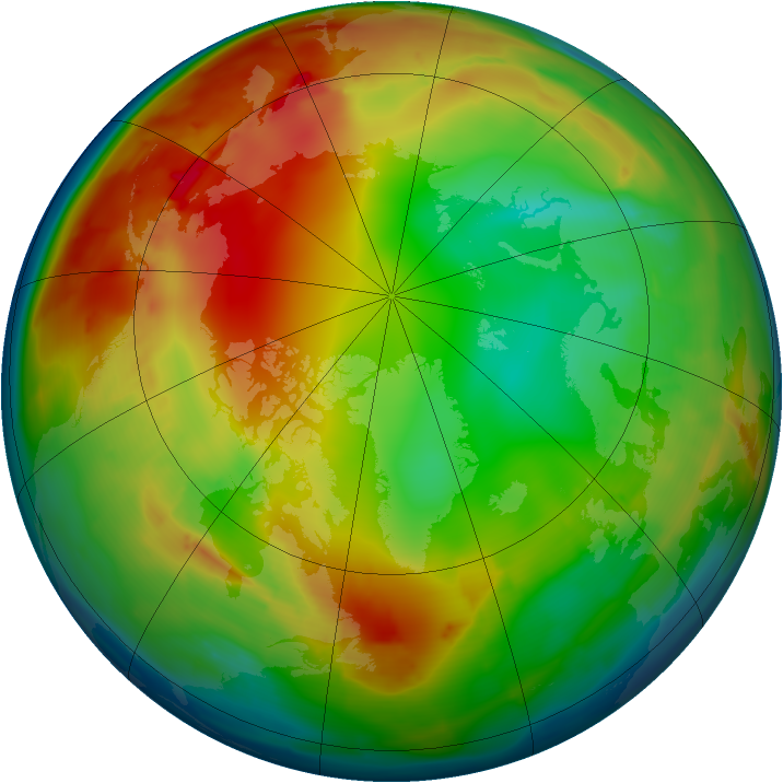 Arctic ozone map for 17 January 2010
