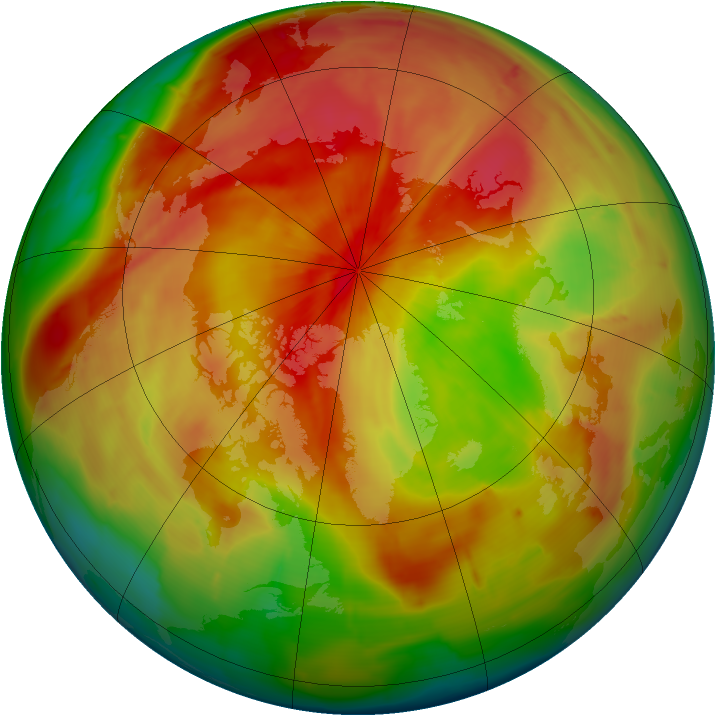 Arctic ozone map for 04 April 2010