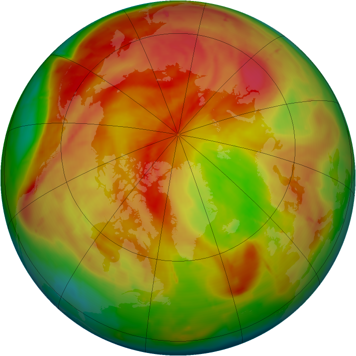 Arctic ozone map for 05 April 2010