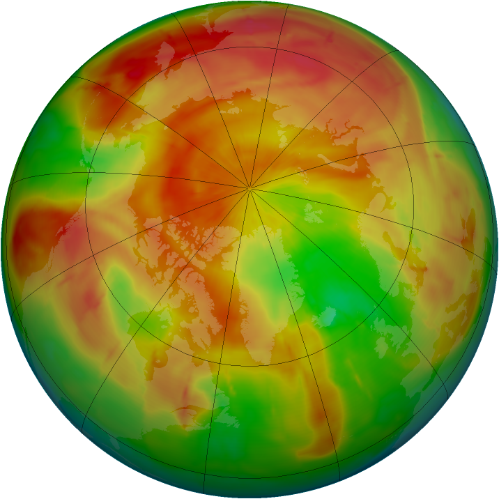 Arctic ozone map for 10 April 2010