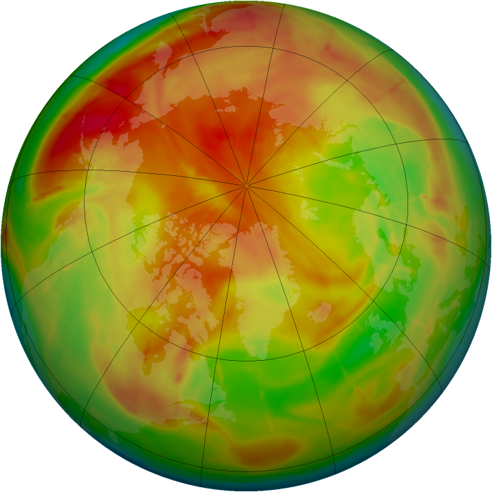 Arctic ozone map for 17 April 2010