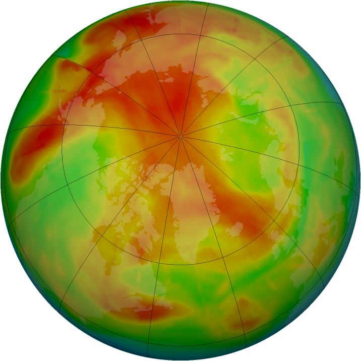 Arctic ozone map for 19 April 2010