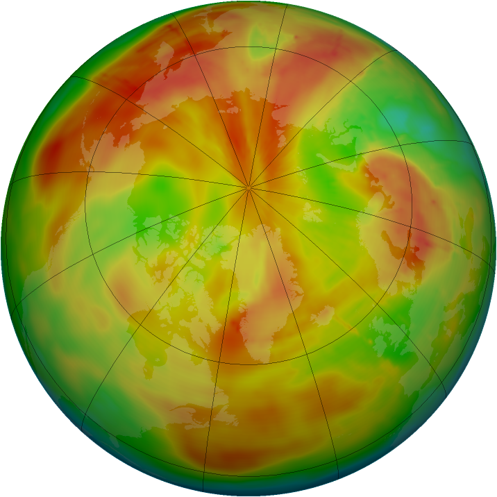 Arctic ozone map for 24 April 2010