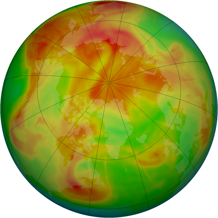 Arctic ozone map for 29 April 2010