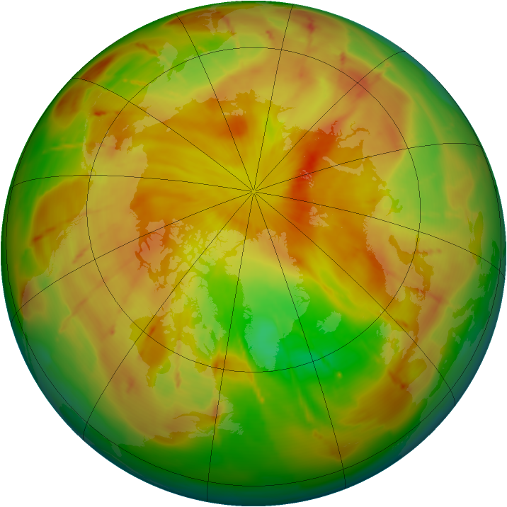 Arctic ozone map for 09 May 2010