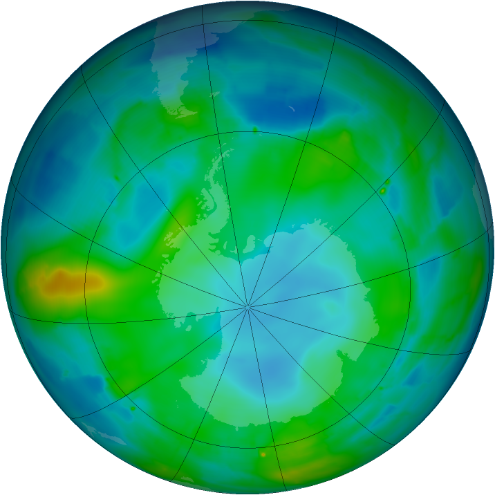 Antarctic ozone map for 12 May 2010