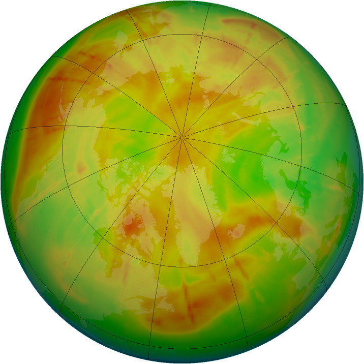 Arctic ozone map for 17 May 2010