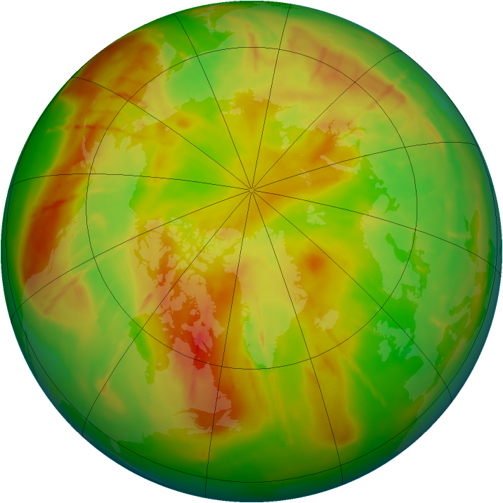Arctic ozone map for 21 May 2010
