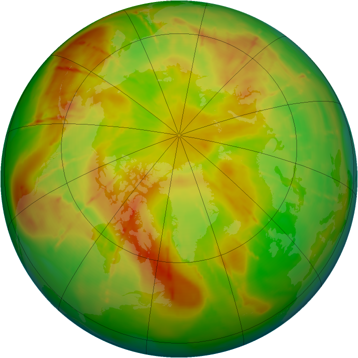 Arctic ozone map for 22 May 2010