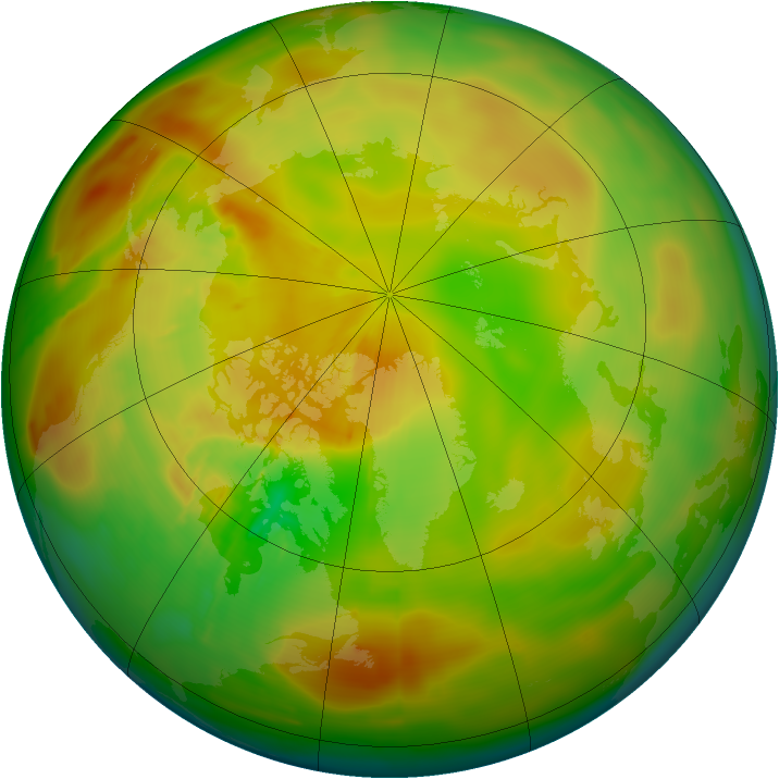 Arctic ozone map for 27 May 2010