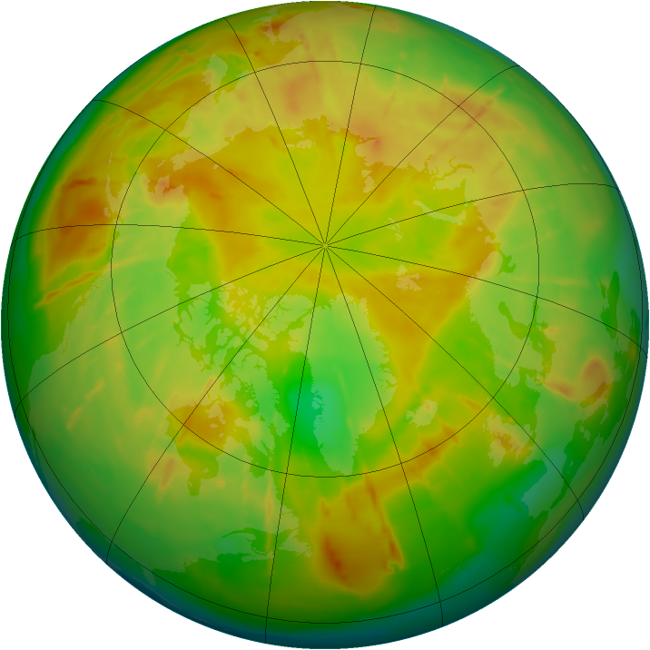 Arctic ozone map for 01 June 2010