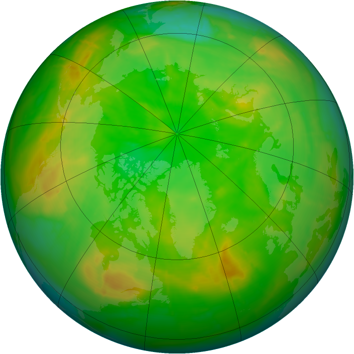 Arctic ozone map for 30 June 2010