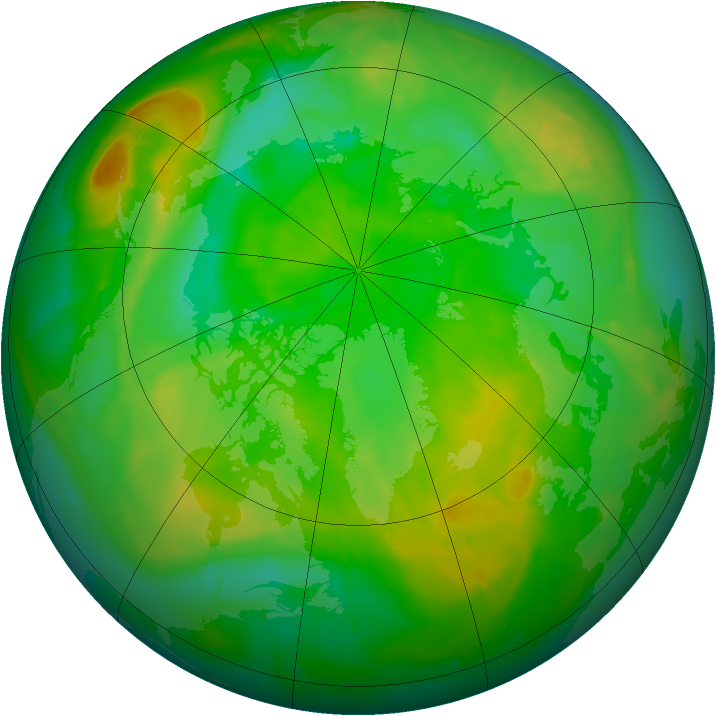Arctic ozone map for 09 July 2010